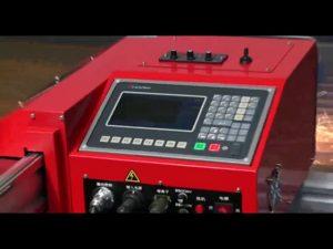 1800mm flytjanlegur þungur járnbrautum cnc plasma loga gas klippa vél