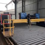 automated cnc plasma cutting machine double driving 4m span 15m rails