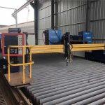 makinë automatike për prerjen e plazmës CNC që drejton dyfishtë shina 4 milion 15m