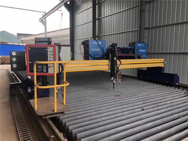 Makinë e automatizuar për prerjen e plazmës CNC e automjeteve të dyfishtë shina 4m me gjatësi 15m