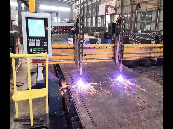 Dubbel aandrijvingsbrug CNC plasmasnijmachine H Beam-productielijn Hypertherm CNC systeem