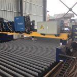 dubbele brug cnc plasma snijmachine snijden massief staal / h beam productielijn
