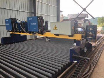 ठोस स्टील एच बीम उत्पादन लाइन काटना के लिए डबल ड्राइव गैन्ट्री सीएनसी प्लाज्मा काटना मशीन