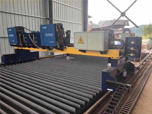 Doppelantriebs-Gantry CNC-Plasma-Schneidemaschine für das Schneiden der festen Stahl-H-Strahl-Fertigungsstraße