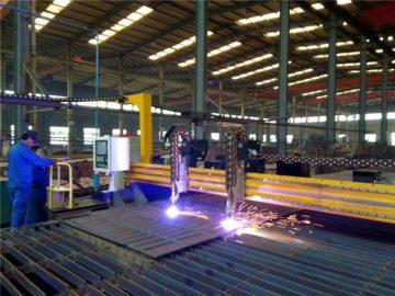 Cortadora del plasma del CNC del pórtico y cortadora de la llama para la placa de acero