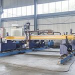 Intelligent Gantry type cnc metal plate cutting machine automatic plasma and flame cutter machinery