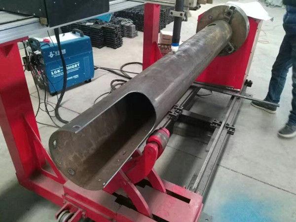 Máquina de corte del plasma del CNC del costo bajo del tubo del CNC del eje giratorio