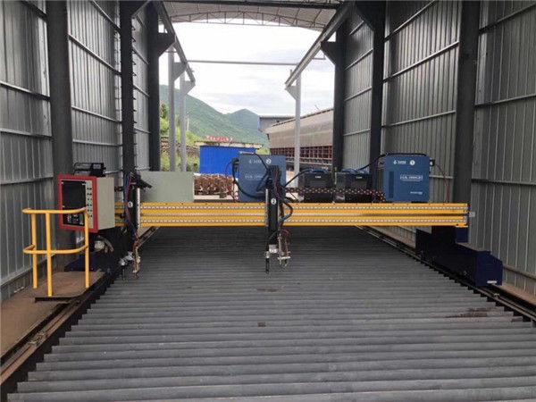Maza izmēra tabulas tipa CNC plazmas un liesmas precīzas griešanas mašīnas